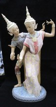"Lladro Thai Couple, 20"" Tall, Mint Condition - $1,198.44"