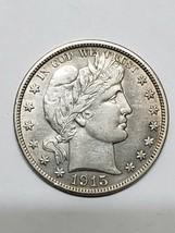 1915D Barber Half Dollar Silver Coin 319-21