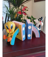 Extremely Rare! Looney Tunes Baby Sylvester and Tweety Fig Bookends Stat... - $346.50