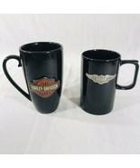 """Harley Davidson Motorcycles Rose Tattoo & Pewter Emblem 6"""" Mug Cup 14 oz... - $29.65"""