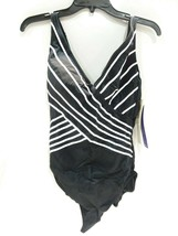 Gottex 18EM158 Embrace Surplice One Piece Swimsuit (Black + White) - $41.98