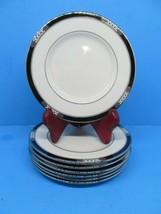 "Lenox Hancock Presidential  Platinum  6 3/8""  Dessert Bread Plates Set Of 7 - $67.62"