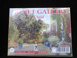 Vintage PIATNIK PLAYING CARDS Monet Gallery Child No Jokers in Deck - $12.00