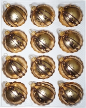 "12 pcs. Christmas Balls Set in ""Golden Dream Special"" - $27.99"