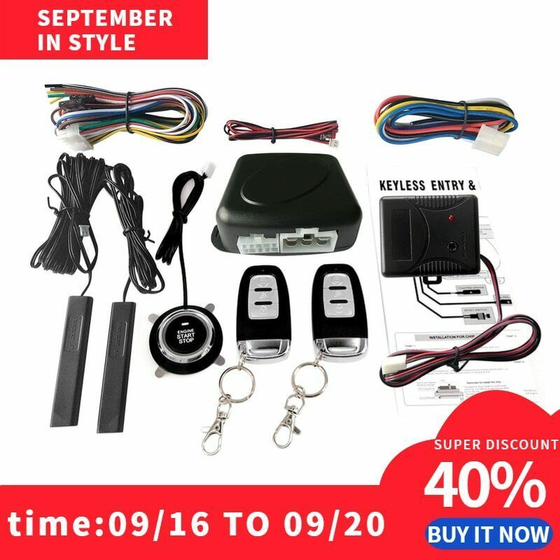 Primary image for Car Switch Keyless Entry Engine Start Alarm System with Vibration Sensor Push