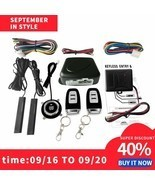 Car Switch Keyless Entry Engine Start Alarm System with Vibration Sensor... - $84.36 CAD