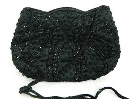 Blk Seed Bead & Sequin Rope Strap - PRS9 - $32.95