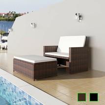 vidaXL Patio Rattan Wicker Outdoor Garden Sofa Love Bed 2 Seater Stool 2... - $196.99+