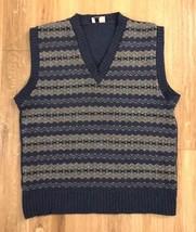 James Pringle Scottish Fashions Mens 44 Knit Sweater Vest Pure Wool VNec... - $46.44