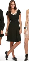 Libertine x Target Black Ivory Lace Collar Belted Inverted Pleat Shirt D... - $15.00