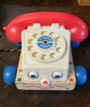 Vintage Fisher Price Chatter Toy Phone  1961   - $12.50