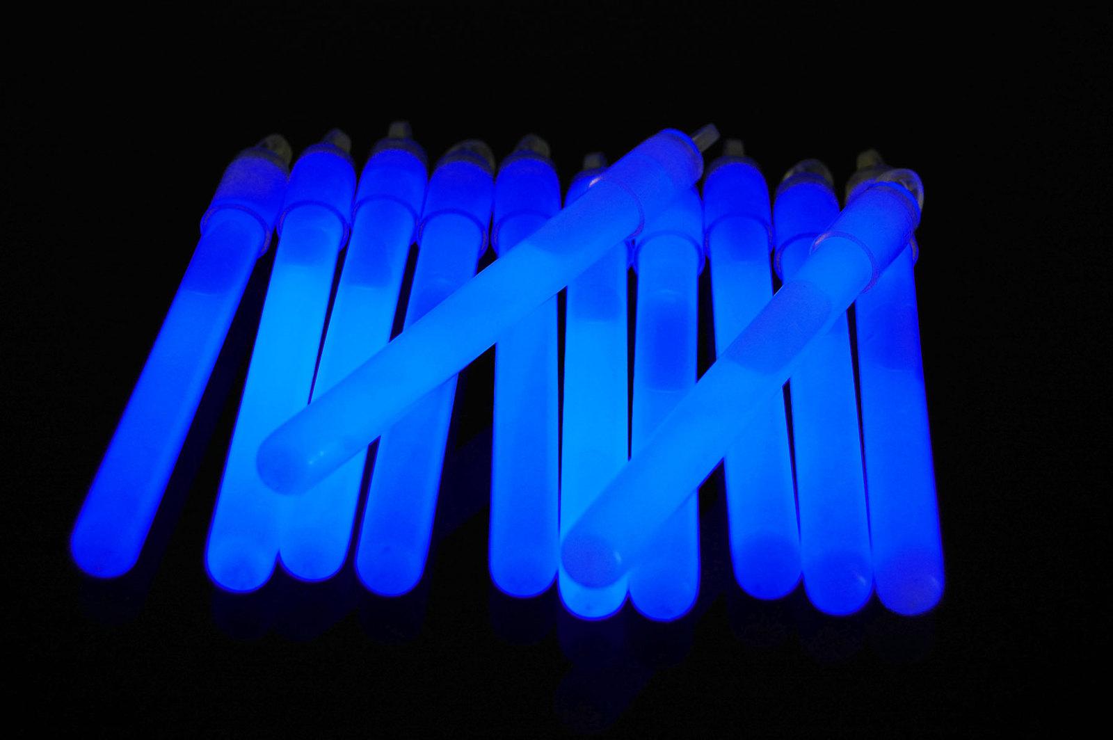 4 inch 10mm blue glow sticks1