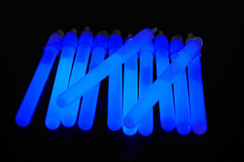 4 inch Premium Blue Glow Sticks with Lanyards- 25 Count - $11.95