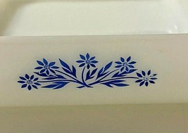 """Fire King Anchor Hocking 435 with Blue Cornflower Pattern Square Baking Dish 8"""" - $12.38"""