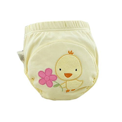 Lovely Cartoon Animal Pattern Baby Elastic Cloth Diaper Cover (M, 9-11KG, Duck)