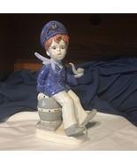 "Vintage Ceramic Sailor Boy Sitting on Barrel With Pipe Figurine 10"" Hand... - $24.74"