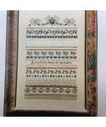Charland Designs Summer Roses Cross Stitch Chart Pattern Ribbon Heart Charm - $20.92