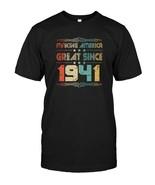 Retro Vintage 1941 Old School 77 Years Old Birthday T Shirt - $17.99+