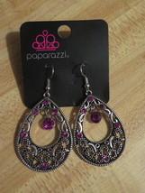 Paparazzi Jewelry Earrings / Silver & Purple Rhinestone (B1) - $7.50