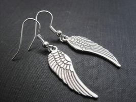 Angel Wing Dangle Earrings Handmade Gothic Jewelry - $12.00