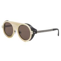 Giorgio Armani AR6034Z Round Sunglasses 3141/73 White Ivory Horn & Brown... - $643.49