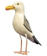 Nautical Decoration Hand Made Wooden Seagull Figurine, 10 Inches Tall - $19.80