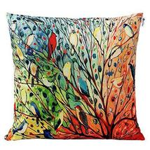 "Cotton Linen Square Decorative Throw Pillow Case Cushion Cover 18"" x 18""... - $14.99"