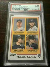 Pete Alonso RC 2019 Topps Throwback Thursday Rookie Card#266 PSA9!Mets 1... - $128.69