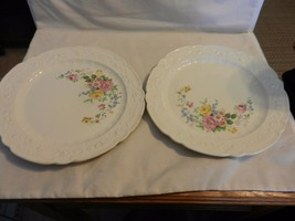 Pair of Antique Homer Laughlin China Dinner Plates 1922 Multicolored Flo... - $98.99