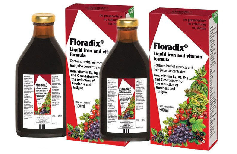 Primary image for Floradix® Liquid Iron and Vitamin Formula 500 ml Free Shipping 2 PACK
