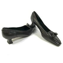 Stuart Weitzman Size 7.5 M Brown Leather Kitten Heels Pumps Shoes Heels ... - £45.69 GBP