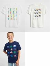 Gap Kids Boy T-shirt 4 5 6 7 8 10 Graphic White Blue Short Sleeves Crew ... - $14.99
