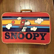NEW rare Snoopy Suitcase Pilot Peanuts Woodstock  red new bag OLDSNOOPY ... - $144.00