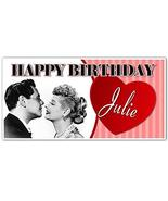 I Love Lucy Birthday Banner Custom Party Backdrop Decoration - $22.28