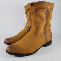 Frye Cara Roper Short Riding Boots SZ Womens Leather Cowboy Round Toe Co... - $69.99+