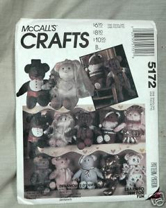 Primary image for McCall's Crafts 5172 Bear Doll Package