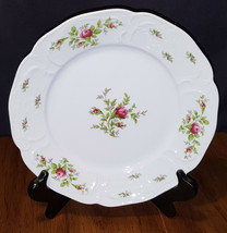 Rosenthal Continental Sanssouci Rose White No Trim Dinner Plate Germany - $12.99