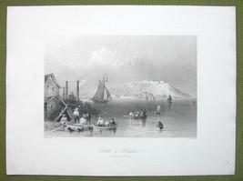 CANADA Citadel of Kingston - 1841 Engraving Print by BARTLETT - $19.80