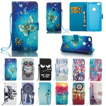 Leather Pattern Smart Flip Wallet & Hand Rope Case Cover for Huawei P8 l... - $137,26 MXN+