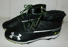 Under Armour 3H Black White Cleats Shoes Size 14 Brand New No Tags - $40.00