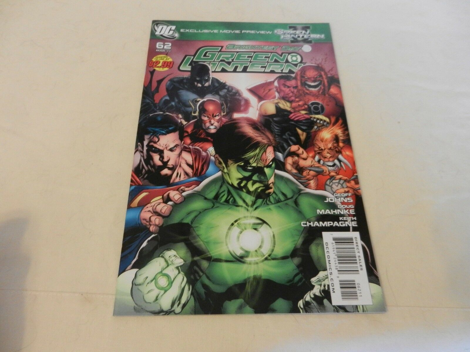 Brightest Day Green Lantern DC Comics #62 March 2011