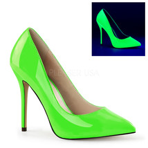 "PLEASER Women's Sexy Neon Green High Heels 5"" Stiletto Pumps Shoes AMU20... - $48.95"