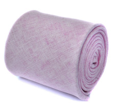 Frederick Thomas plain pale pink textured linen tie FT1966
