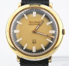1974 BULOVA ACCUTRON Hombres Chapado en oro diapasón MVMT 2110 Reloj Original - $547.10