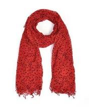 Women's Red 100% Viscose Star Scarf LS4570 - $14.38