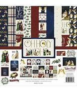 Echo Park Paper Company Oh Holy Night Collection Kit paper, Red/Green/Ta... - $19.99