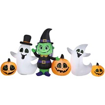 Airblown Inflatable-Witch, Ghost and Jack O Lantern Collection Scene by... - $75.38