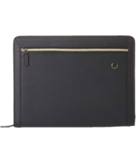 ❤️WENGER Swiss The Amelie Black Zip Padfolio Business Organizer Tablet N... - $32.48