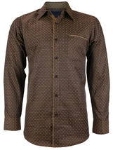 LW Men's Western Button Up Long Sleeve Designer Dress Shirt image 7