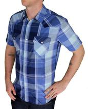 BRAND NEW LEVI'S MEN'S CLASSIC CASUAL BUTTON UP PLAID BLUE SHIRT 3LYSW6062-DBLU image 3